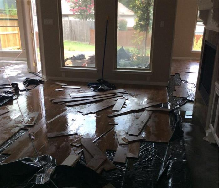 water damaged wood floors pulled up