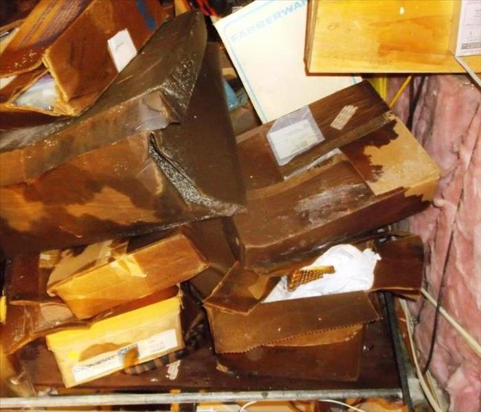 Documents Damaged in Roof leak